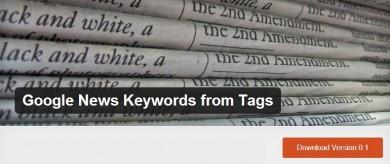 Free WordPress Plugin Auto-generates Google News Meta Tag Keywords