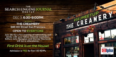 You are Invited at the #SEJMeetup in San Francisco [Search Engine Journal]